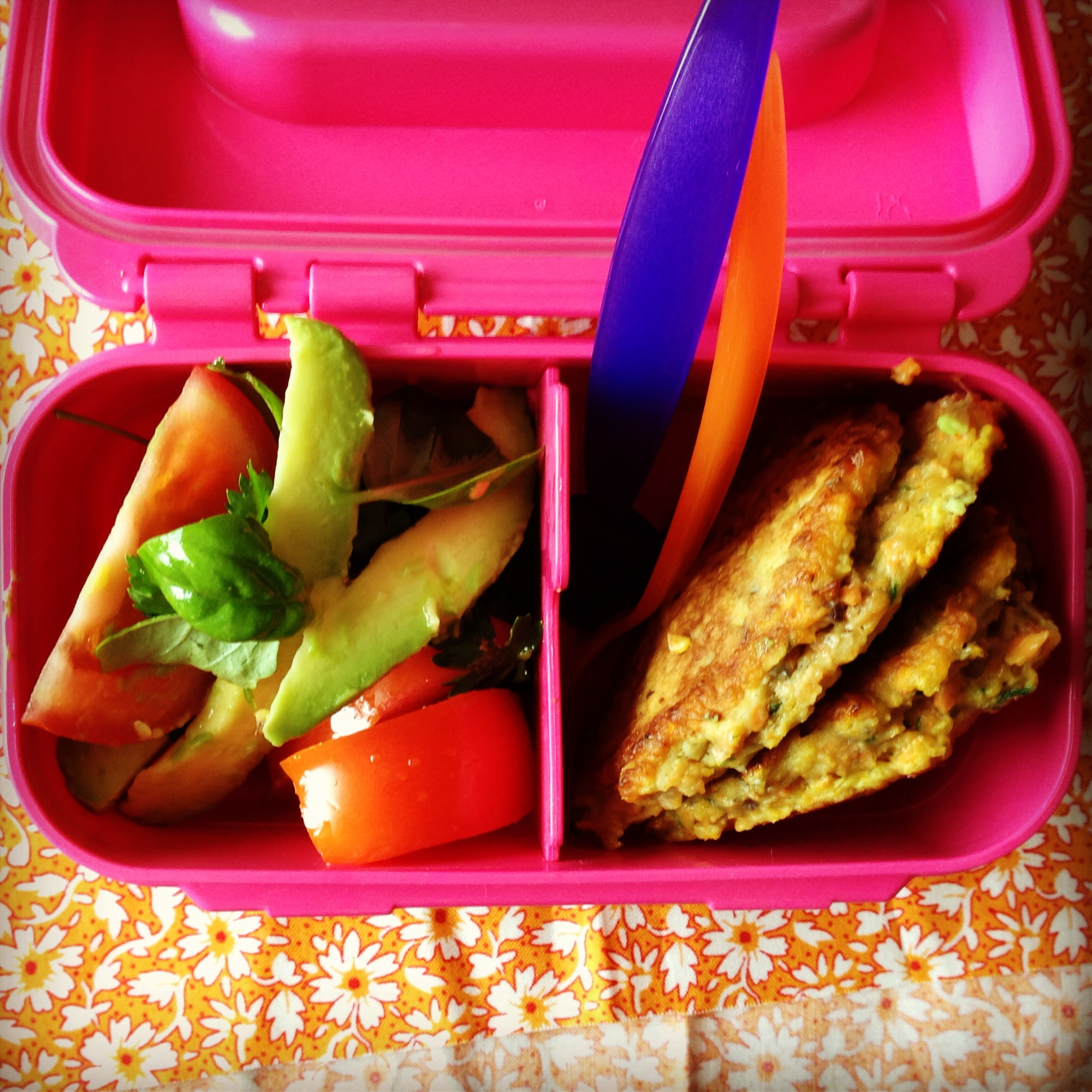 carrot fritters my lovely little lunch box. Black Bedroom Furniture Sets. Home Design Ideas