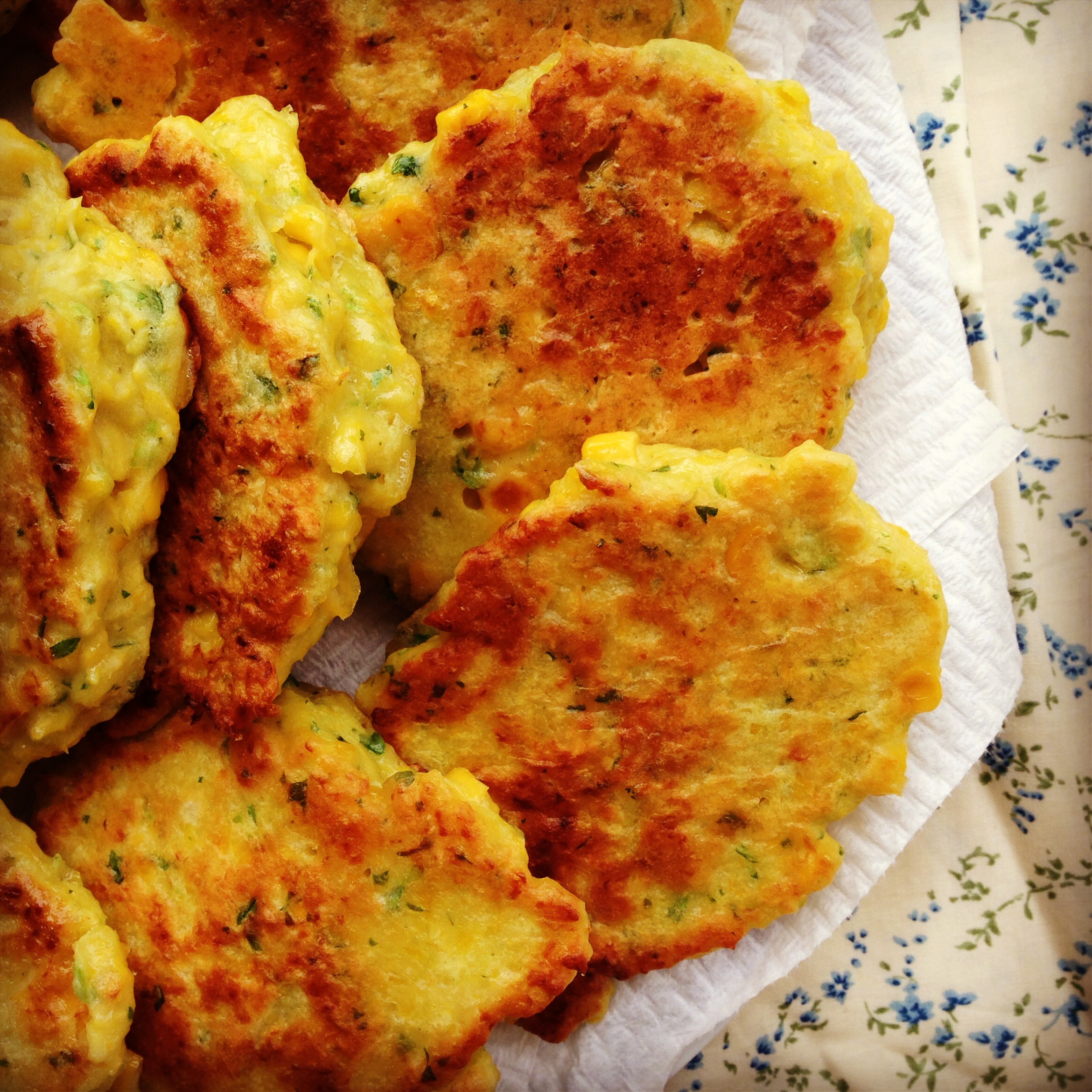 sweetcorn fritters - my lovely little lunch box