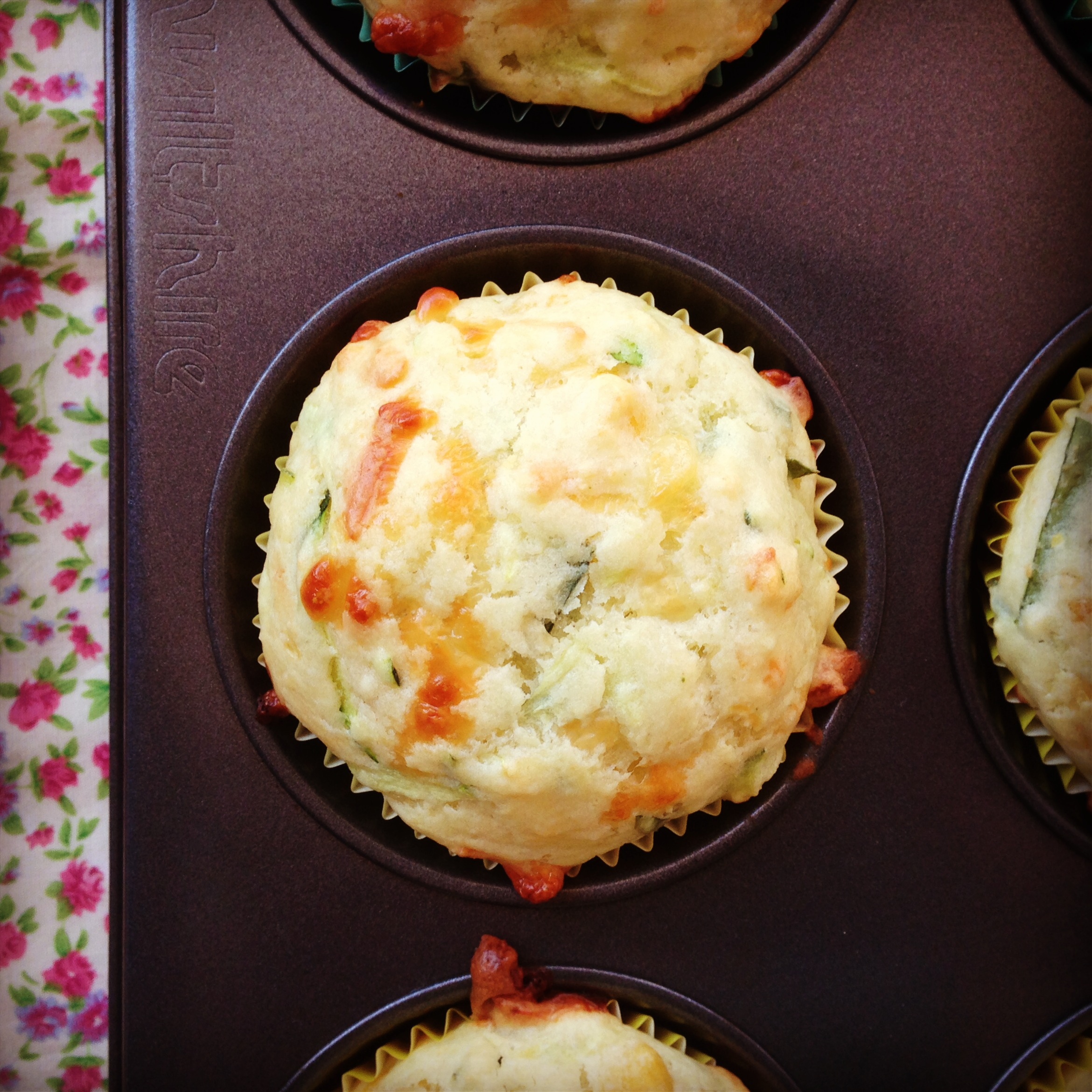 zucchini, corn & cheese muffins - my lovely little lunch box