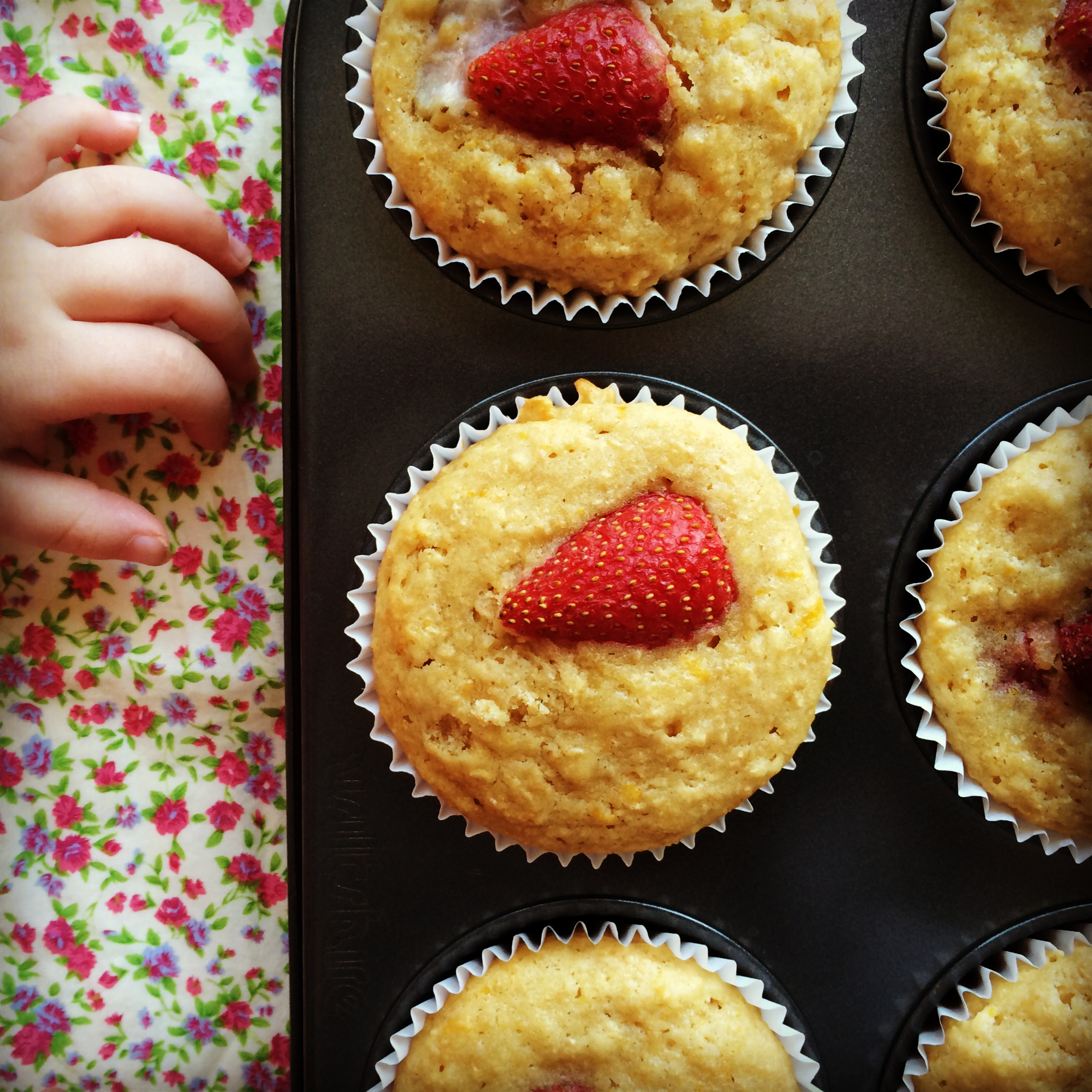 strawberry & mandarin muffins